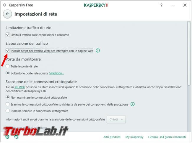Kaspersky antivirus rallenta l'apertura pagine Mozilla firefox causa connessione ff.kis.v2scd.kaspersky-labs.com
