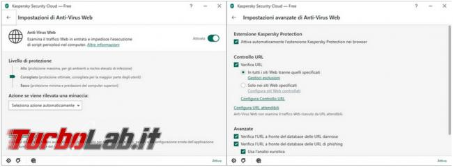 Kaspersky Security Cloud: l'antivirus gratuito protegge computer (prova test efficacia)