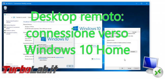 Lavorare PC Windows lontano: Grande Guida Desktop remoto (Remote desktop) - desktop remoto windows 10 home spotlight