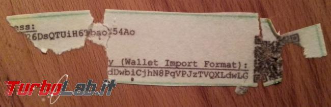 Ledger Trezor sono sicuri? Posso fidarmi wallet hardware Bitcoin criptovalute? (video) - Water-damaged-paper-wallet-privkey