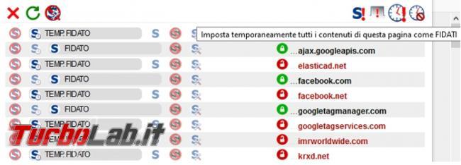 L'estensione Noscript Security Suite impedisce l'apertura script browser senza autorizzazione