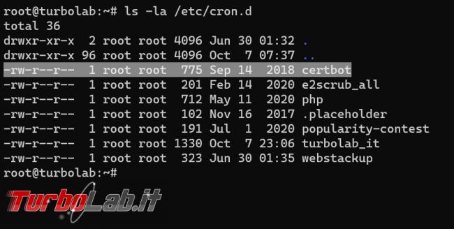 Let's Encrypt Nginx: come rinnovare automaticamente certificato HTTPS riavviare server web dopo rinnovo