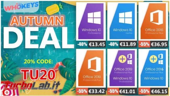 Licenze Windows meno 14 € Whokeys! - FrShot_1600590641