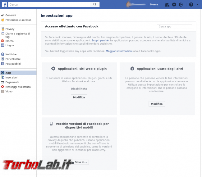 Limitiamo massimo invio dati Facebook senza rinunciare social