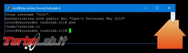 Linux CentOS/Ubuntu: Modificare cartella lavoro predefinita terminale (locale via SSH) - ubuntu home terminale putty spotlight