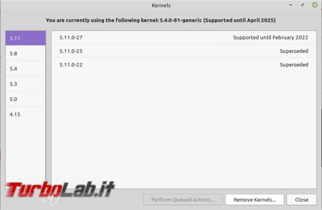 Linux Mint: rimuovere kernel superati GUI ( non solo) recuperare po' spazio disco - Screenshot from 2021-08-16 18-04-07