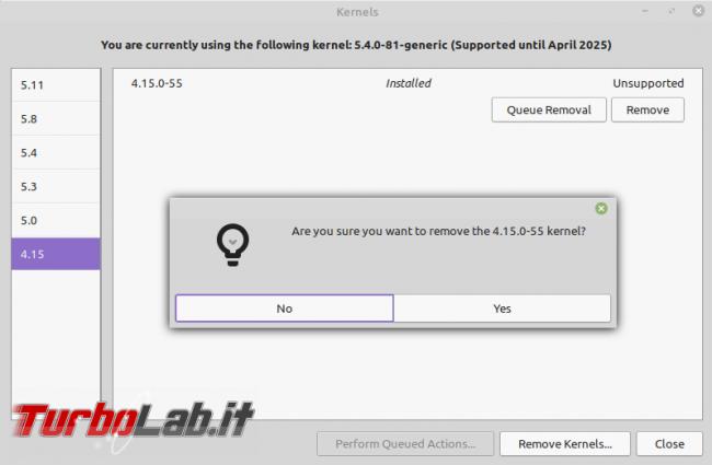 Linux Mint: rimuovere kernel superati GUI ( non solo) recuperare po' spazio disco - Screenshot from 2021-08-16 18-49-49