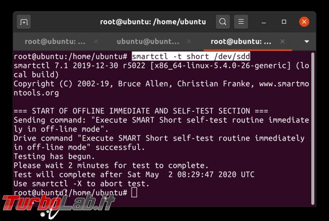Linux test SSD: come testare disco fisso/USB rilevare problemi, guasti, errori ( Live CD/USB linea comando) - Schermata da 2020-05-02 08-30-20