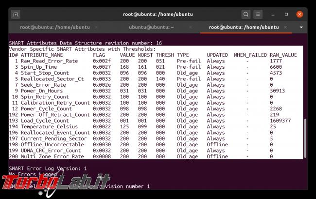 Linux test SSD: come testare disco fisso/USB rilevare problemi, guasti, errori ( Live CD/USB linea comando) - Schermata da 2020-05-02 08-45-57