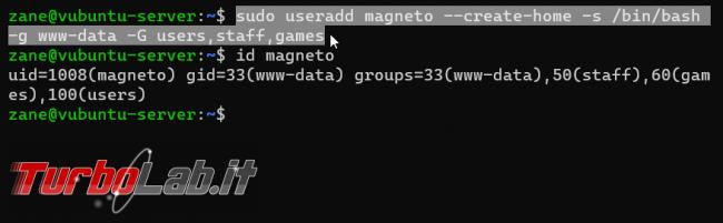 Linux/Ubuntu: come creare utente linea comando - guida rapida useradd adduser