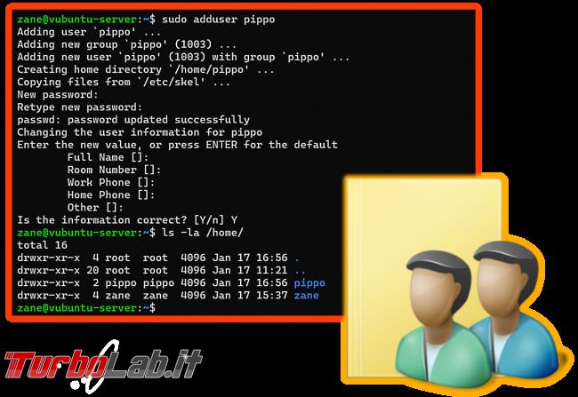 Linux/Ubuntu: come creare utente linea comando - guida rapida useradd adduser - ubuntu linux useradd