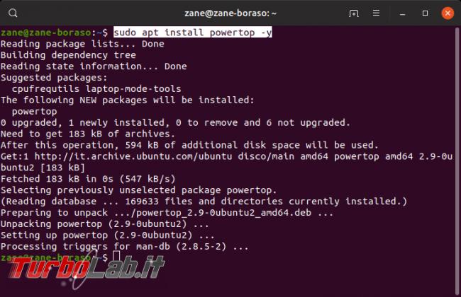 Linux / Ubuntu consuma troppa batteria! Come risolvere migliorare autonomia PowerTOP - Screenshot from 2019-09-17 21-31-36