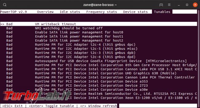 Linux / Ubuntu consuma troppa batteria! Come risolvere migliorare autonomia PowerTOP - Screenshot from 2019-09-17 21-47-58