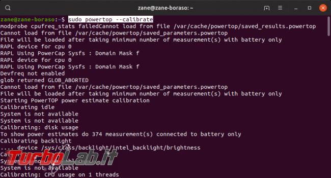 Linux / Ubuntu consuma troppa batteria! Come risolvere migliorare autonomia PowerTOP - Screenshot from 2019-09-17 21-51-40