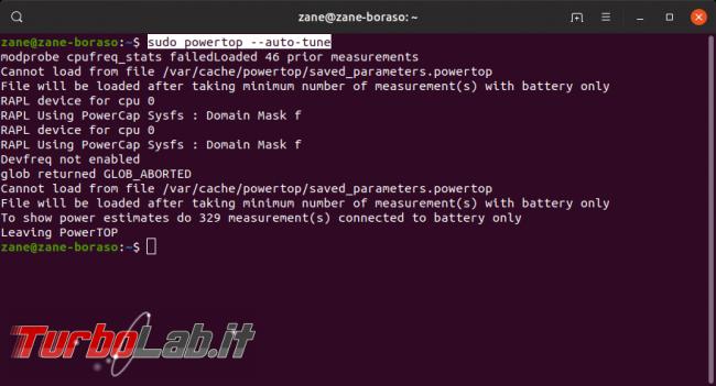 Linux / Ubuntu consuma troppa batteria! Come risolvere migliorare autonomia PowerTOP - Screenshot from 2019-09-17 21-57-40