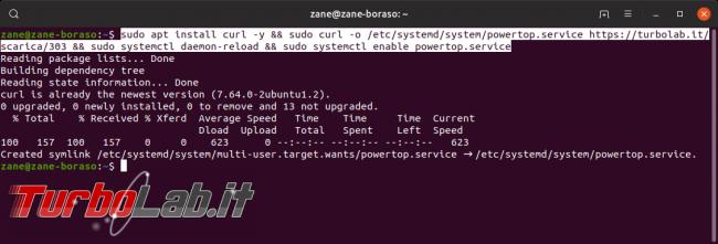 Linux / Ubuntu consuma troppa batteria! Come risolvere migliorare autonomia PowerTOP - Screenshot from 2019-09-22 21-28-40