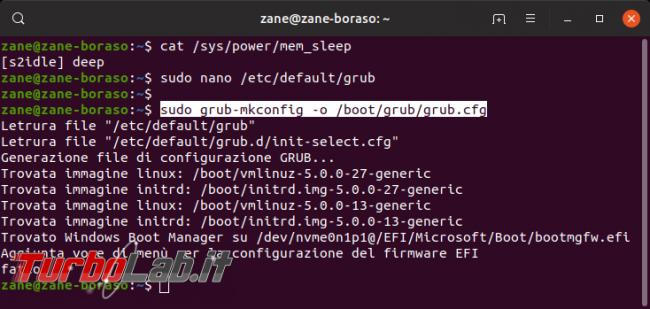 Linux / Ubuntu notebook: migliorare durata batteria attivando sospensione S3, Suspend-to-RAM (STR, S2RAM, deep)