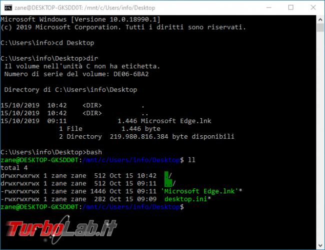 Linux Windows 10: Grande Guida WSL2. Come installare Sottosistema Windows Linux (WSL), eseguire programmi, accedere file - bash da prompt windows