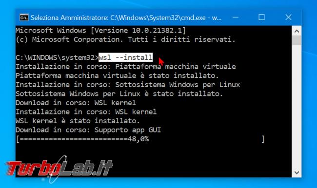 Linux Windows 10: Grande Guida WSL2. Come installare Sottosistema Windows Linux (WSL), eseguire programmi, accedere file (video)