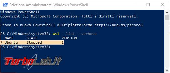 Linux Windows 10: Grande Guida WSL2. Come installare Sottosistema Windows Linux (WSL), eseguire programmi, accedere file (video) - visualizzazione versione wsl
