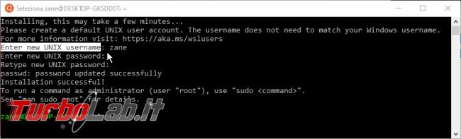 Linux Windows 10: Grande Guida WSL2. Come installare Sottosistema Windows Linux (WSL), eseguire programmi, accedere file - wsl install first boot