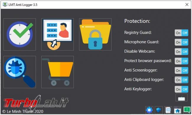 "LMT anti logger programma proteggervi malware ""spioni"" registrano tastiera fotografano desktop"