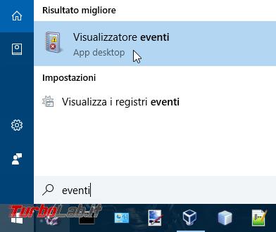 Log Desktop remoto: come visualizzare elenco accessi, connessioni sessioni Windows 10 ( scoprire se qualcuno è entrato PC remoto) - start visualizzatore eventi