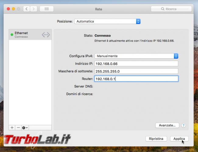 Mac indirizzo IP statico: come configurarlo manualmente (guida) - VirtualBox_macOS_10_10_2017_09_33_06