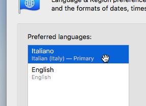 Mac italiano: come tradurre interfaccia macOS 11 - VirtualBox_macOS_09_10_2017_11_51_47