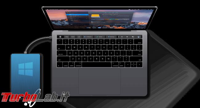 Mac NTFS: come scrivere chiavette USB Windows macOS Mojave, High Sierra, Sierra - mac notebook hard disk disco esterno usb paragon