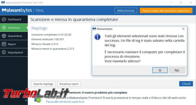 Malwarebytes 3.0 messo prova TurboLab.it