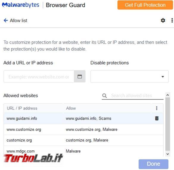 Malwarebytes Browser Extension blocca pubblicità siti pericolosi