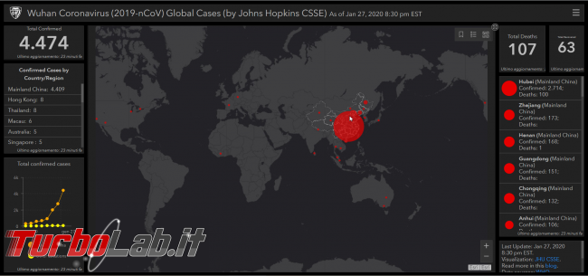 Mappa interattiva contagi coronavirus cinese - FrShot_1580208578