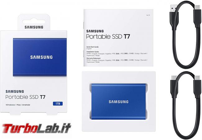 Memoria esterna Samsung SSD T7: Recensione, prova pratica, test velocità (disco SSD esterno USB PC smartphone Android)