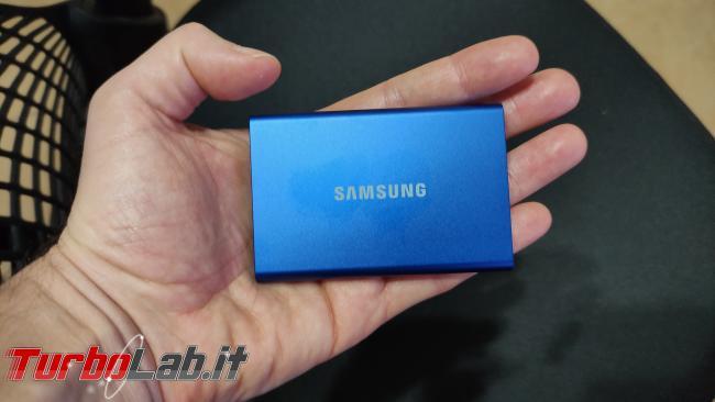 Memoria esterna Samsung SSD T7: Recensione, prova pratica, test velocità (disco SSD esterno USB PC smartphone Android) - IMG_20201212_215711