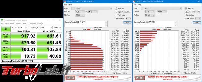 Memoria esterna Samsung SSD T7: Recensione, prova pratica, test velocità (disco SSD esterno USB PC smartphone Android) - Samsung Portable SSD T7 NTFS