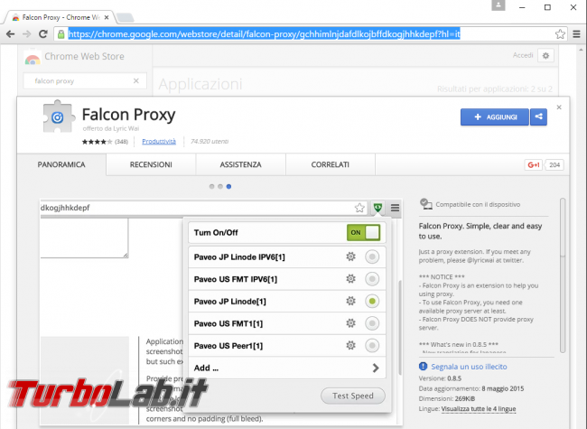 Meno pubblicità più privacy: Guida completa Privoxy (Windows/Mac/Linux) - estensione_googlechrome