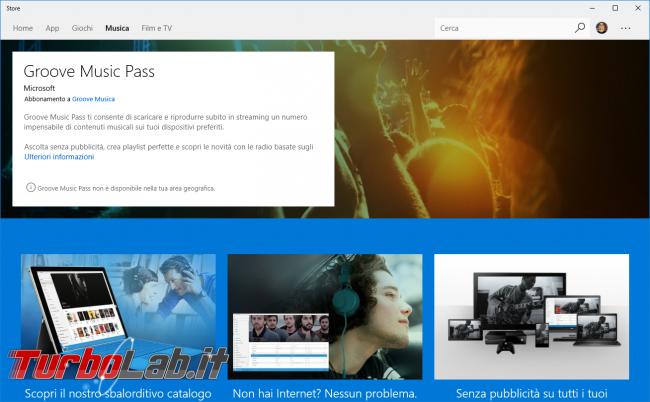 Microsoft abbandona Groove Music Pass integra Spotify