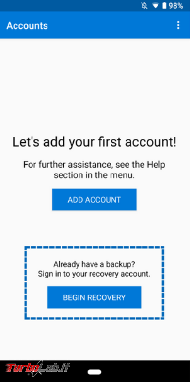 Microsoft Authenticator: backup ripristino cloud ora disponibili Android - FrShot_1568374639
