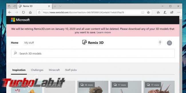 Microsoft chiude Remix 3D Windows 10. Paint 3D sarà prossimo?