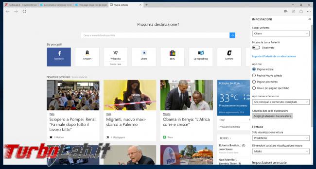Microsoft Edge: guida novità browser Windows 10 - project spartan 01