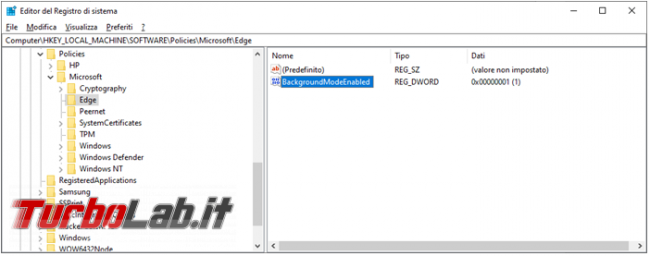 Microsoft Edge segnala essere gestito dall'organizzazione, vediamo come trovare policy impostate