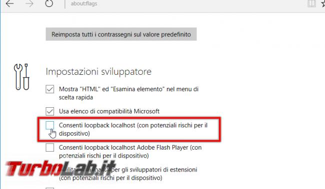 Microsoft Edge sito locale (http://localhost) non si apre: come risolvere errore Apache IIS