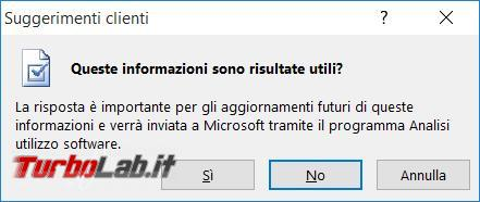Microsoft Office 2013 l'errore Memoria spazio disco insufficiente