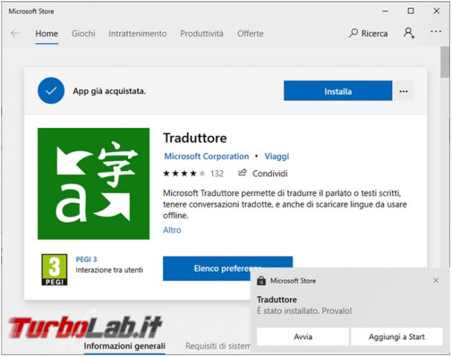 Microsoft Traduttore, l'app traduzioni portata mano offline