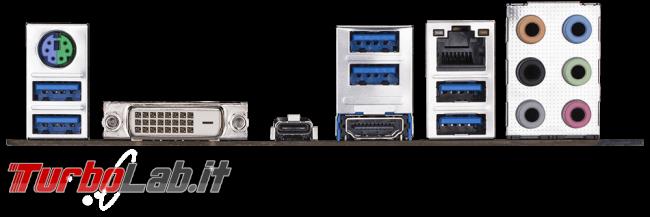 miglior PC fisso posso assemblare: guida mercato scelta CPU, MoBo, RAM, SSD, case - edizione Coffee Lake, autunno/inverno 2017 - scheda madre mobo Gigabyte Z370M D3H back