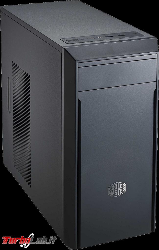 miglior PC fisso posso assemblare: guida mercato scelta CPU, MoBo, RAM, SSD, case - edizione Coffee Lake, estate 2018 - Cooler Master Masterbox Lite 3
