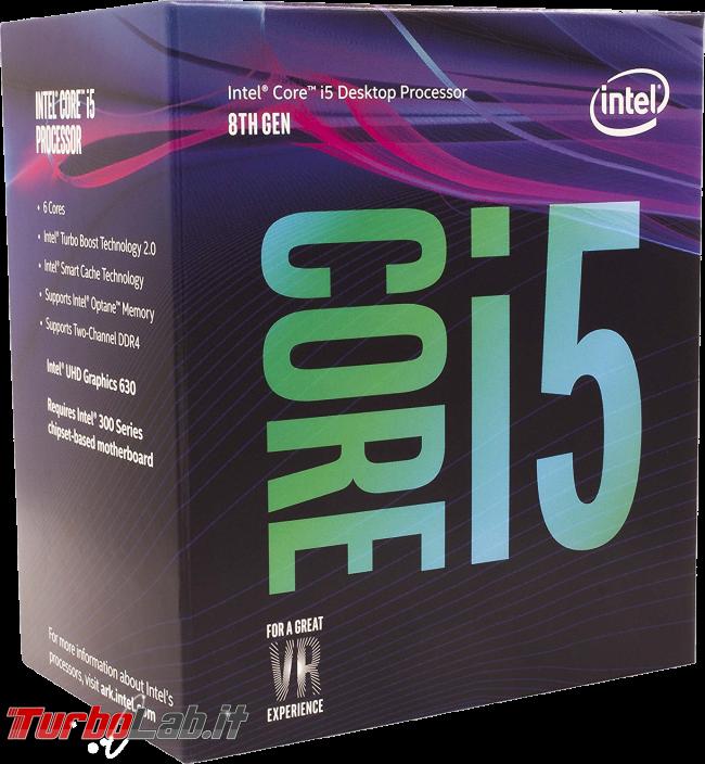 miglior PC fisso posso assemblare: guida mercato scelta CPU, MoBo, RAM, SSD, case - edizione Coffee Lake, estate 2018 - intel core i5 cofee lake 8th gen