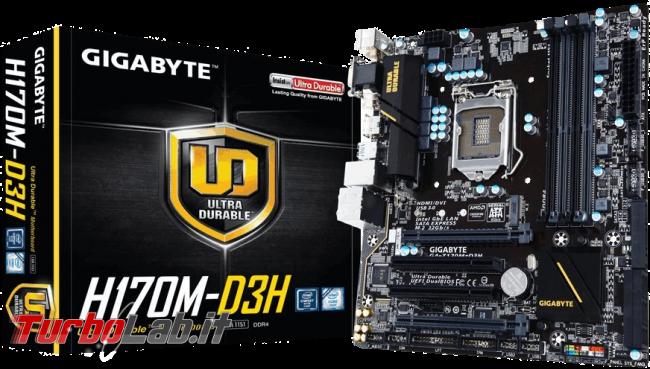 miglior PC fisso posso assemblare: guida mercato scelta CPU, MoBo, RAM, SSD, case - edizione Skylake, estate 2016 - Gigabyte H170M-D3H