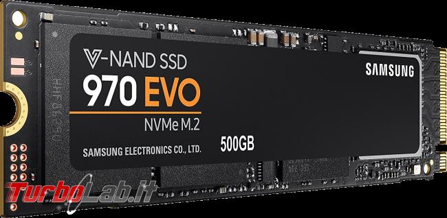 miglior SSD NVMe M.2 PCIe posso comprare massima velocità PC / notebook (estate 2018) - samsung ssd nvme m2 evo 970